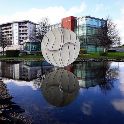"""Public Sculptures by Angela Conner Studio seen at Park West Pharmacy, Park West Business Park - """"Poise"""""""