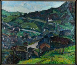 Paintings by Gertrude Partington Albright seen at Mills College Art Museum, Oakland - SKETCH [LANDSCAPE]