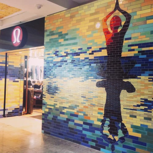 Public Mosaics by Mercury Mosaics seen at Lululemon - Boston Prudential Center, Boston - Mosaic Tiles Mural