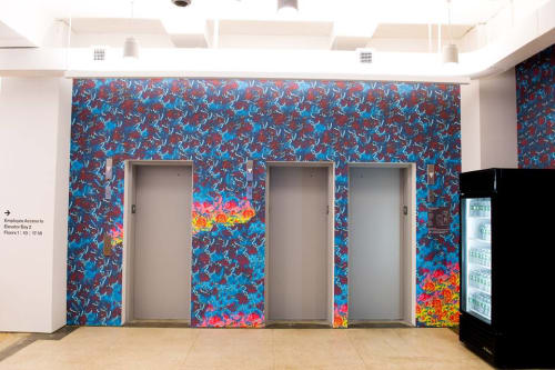 Wallpaper by Brian Willmont at Facebook Union Square, New York - Chaos and Wild Again