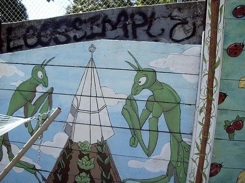 Street Murals by Leanne C. Miller seen at Gough Street, San Francisco - Mural for Urban Share Community Garden