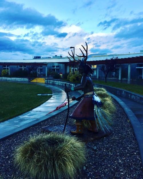 "Public Sculptures by Estella Loretto seen at Institute of American Indian Arts, Santa Fe - ""Re-Awakening"""