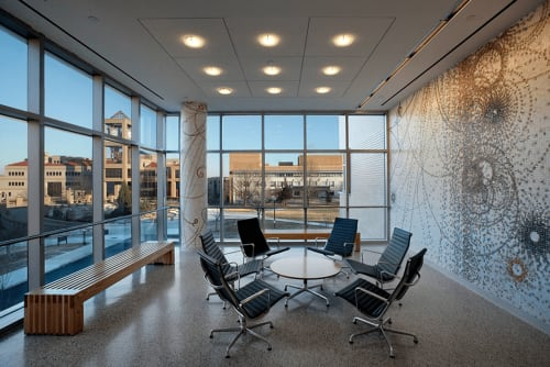 Remsen Hall, Queens College, NY, Public Service Centers, Interior Design