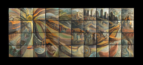 Street Murals by Natalie Blake Studios seen at The Trio At ENCORE!, Tampa - Future Sun: Dissolution into Solution,1967-future