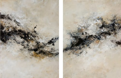 Paintings by Aiden Kringen - Synthesis (Diptych)