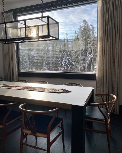 Curtains & Drapes by M2C Studio seen at Yellowstone Club, Big Sky - WOVEN White CURTAINS