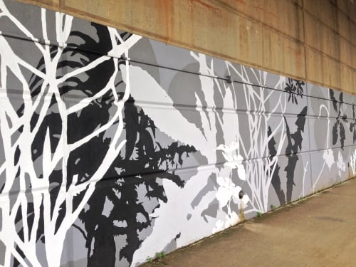 Street Murals by Kim Beck seen at 10th Street Bypass, Pittsburgh, PA, Pittsburgh - Adjutant