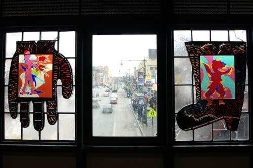 Art & Wall Decor by Moses Ros seen at Fordham Road Station, Bronx - Patriasana