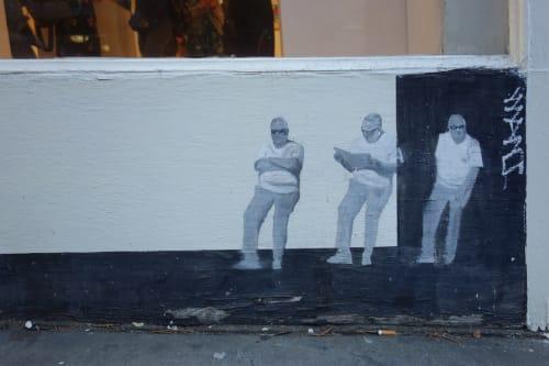 Street Murals by Brett Amory seen at Sutter St SF, San Francisco - Mural