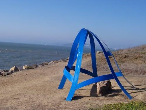 Public Sculptures by Kati Casida seen at Cesar Chavez Park, Berkeley - Kata Hydra - Sky Window