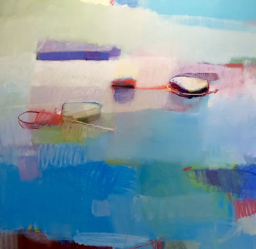 Paintings by Sharon Paster at Private Residence, Sausalito - Summer
