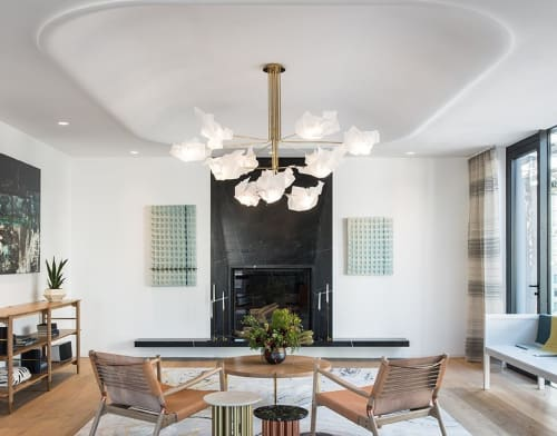 Chandeliers by Gentner Design seen at Penthouse in SoHo, NY, New York - Paper Chandelier