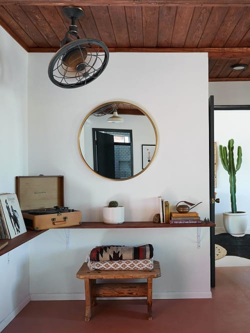 Beds & Accessories by West Elm seen at The Joshua Tree Casita, Joshua Tree - Round Mirror