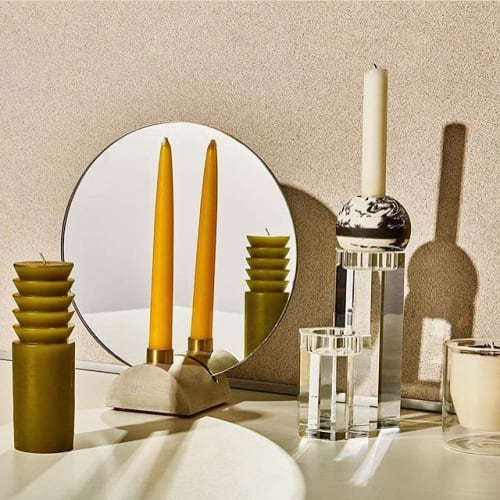 Furniture by Steven Bukowski seen at Private Residence, Brooklyn - Oculus Candlestick