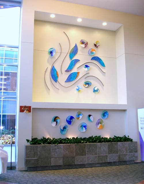 Sculptures by Bonnie M. Hinz seen at Marianjoy Rehabilitation Hospital, Wheaton - Glass Sculpture