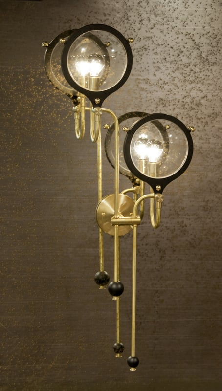 Sconces by Neptune Glassworks seen at The Alexandria, San Diego - Double Lens Sconce