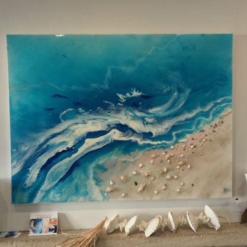 Paintings by ANTUANELLE seen at Private Residence, Sydney - Ocean Inspired Resin Artwork