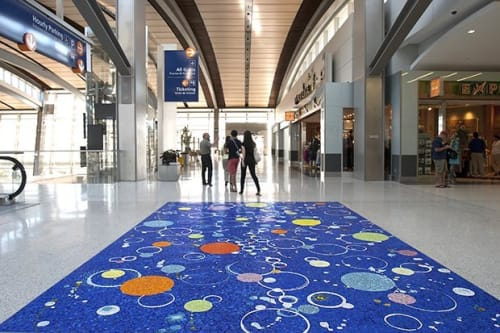 Public Mosaics by Joan Moment seen at Sacramento International Airport, CA, Sacramento - A Fragment of the Universe
