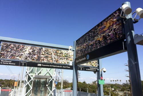 Art & Wall Decor by Susan Logoreci seen at Expo / Sepulveda Station, Los Angeles - Right Above The Right-Of-Way