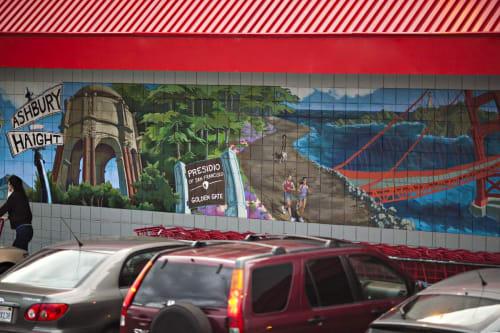 Murals by Bryana Fleming seen at Trader Joe's, Masonic Avenue, San Francisco - Masonic and Geary Trader Joe's