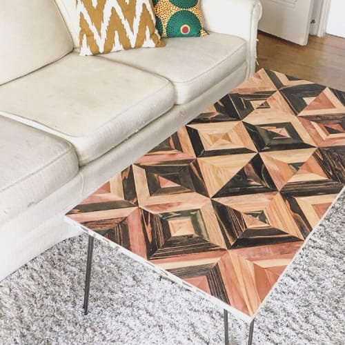 Tables by Nicole Sweeney seen at Private Residence, San Francisco - Geometric Quilt Coffee Table