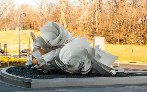 Sculptures by Alice Aycock seen at MGM National Harbor Resort & Casino, Oxon Hill - Whirlpools