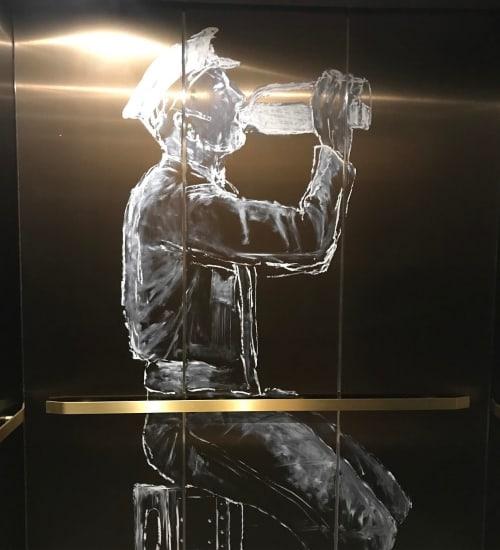 Murals by Michael Dowling seen at Dairy Block, Denver - Milk Man