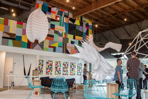 Murals by Leah Rosenberg at M-Rad Architecture, Culver City - Wallscape