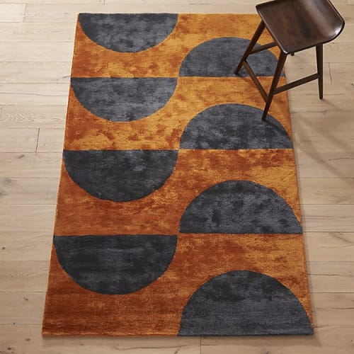 Rugs by Namavari seen at CB2, Berkeley - Luna Amber and Navy Rug