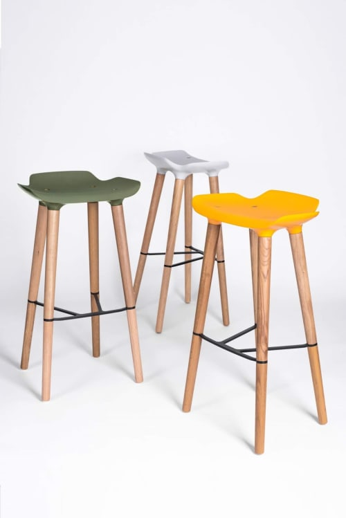 Chairs by Patrick Rampelotto seen at The Barbarian Group, New York - Pilot Stool