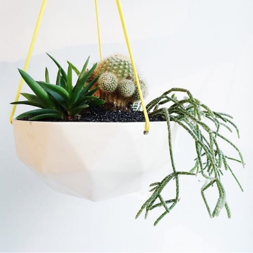 Vases & Vessels by KL Studios seen at Los Angeles, Los Angeles - Hanging Geo-Planter
