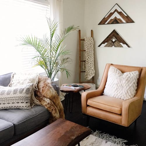 Wall Hangings by Roaming Roots at Private Residence, Bend - Triangle Wood Art