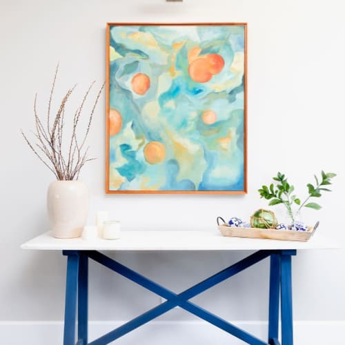 Paintings by Boo Johnson seen at Private Residence, Los Angeles - Custom Painting for Bina Interiors
