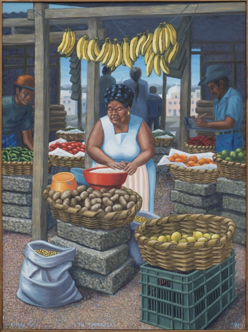 Paintings by Arthur Koch seen at Portola Branch Library 380 Bacon St, San Francisco, CA 94134, San Francisco - Tia Tranquila