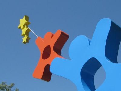 Public Sculptures by CJRDesign at The Bright School, Chattanooga - Starlight Star Bright