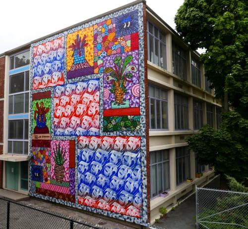 Murals by IMAGINE seen at Maurice J Tobin School, Roxbury Crossing - Tobin School Mural