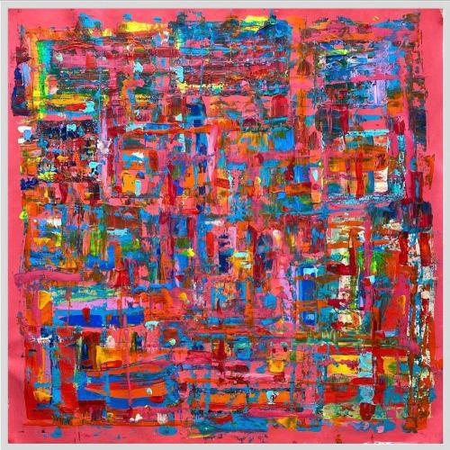 Paintings by double m art by Marjolijn Maenen seen at Creator's Studio, Barcelona - Nickelodeon