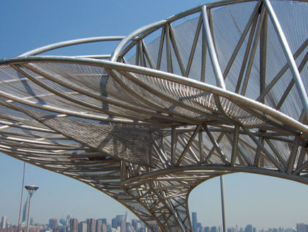 Public Sculptures by Mark Gibian at North 5th Street Pier and Park, Brooklyn - Crescendo