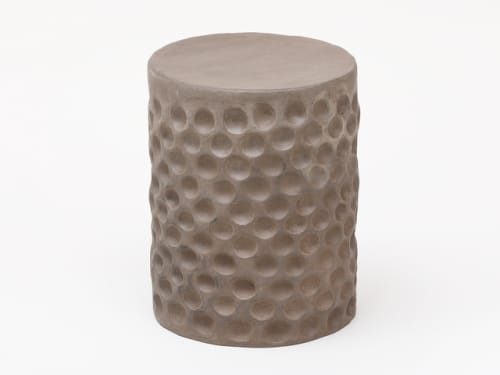 Furniture by Chris Wolston seen at Figma, San Francisco - Stump Stools (Terracotta Furniture)