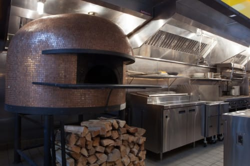 Tableware by Stefano Ferrara Pizza Oven seen at Covina, New York - Custom-Tiled Stefano Ferrara Pizza Oven