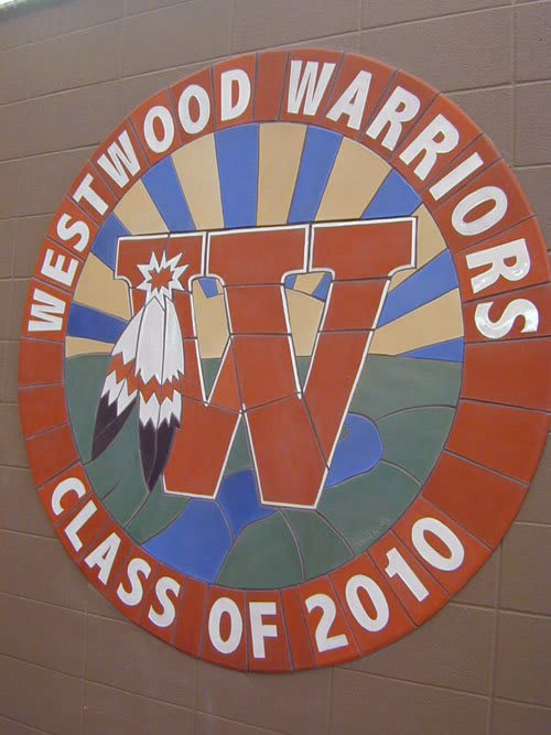 Tiles by Clayworks Studio & Gallery seen at Westwood High School, Austin, Texas, Austin - Westwood Warriors Mural