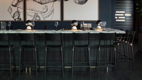 Chairs by Fyrn seen at Brown Downtown Napa, Saint Helena - Stanyan Bar Stools