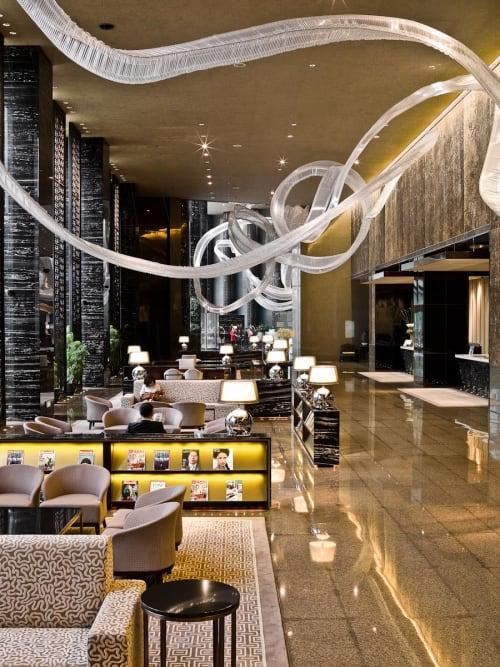 Sculptures by Nikolas Weinstein seen at InterContinental Hotel Shanghai Puxi, Shanghai - Grand Lobby Glass Sculptures