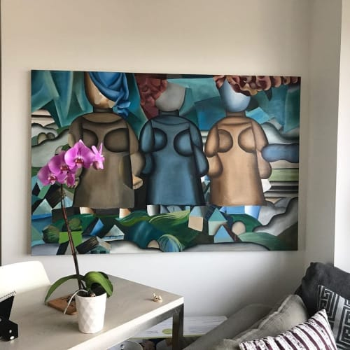 "Paintings by Taya Naumovich seen at Private Residence, New York - ""Three Sisters"""