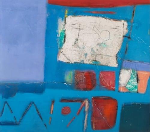 Paintings by Gustavo Ramos Rivera seen at San Francisco International Airport, San Francisco - Azul, Azul y Hacer