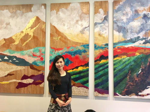 "Paintings by HARUKA ASHIDA OSTLEY seen at Private Residence, Portland - ""Mt. Hood"""