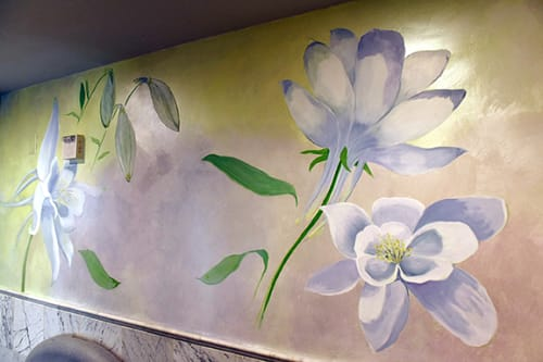 Murals by Kristina Young seen at Napa River Inn, Napa - Columbine Mural
