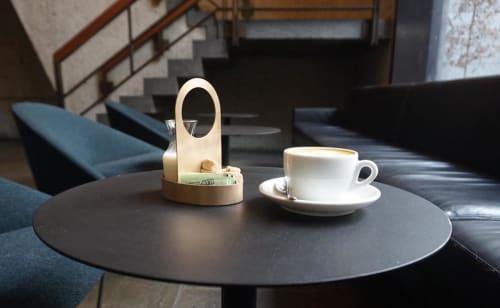 Tableware by Steven Bukowski seen at Flora Bar, New York - Bronze Creamer and Sugar Caddies