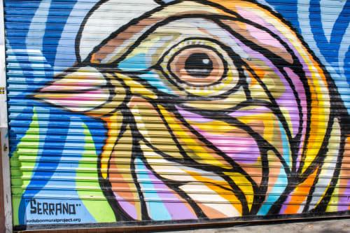 "Murals by Ralph ""Artstikz"" Serrano seen at J & G Wines & Liquors, New York - Baird's Sparrow"