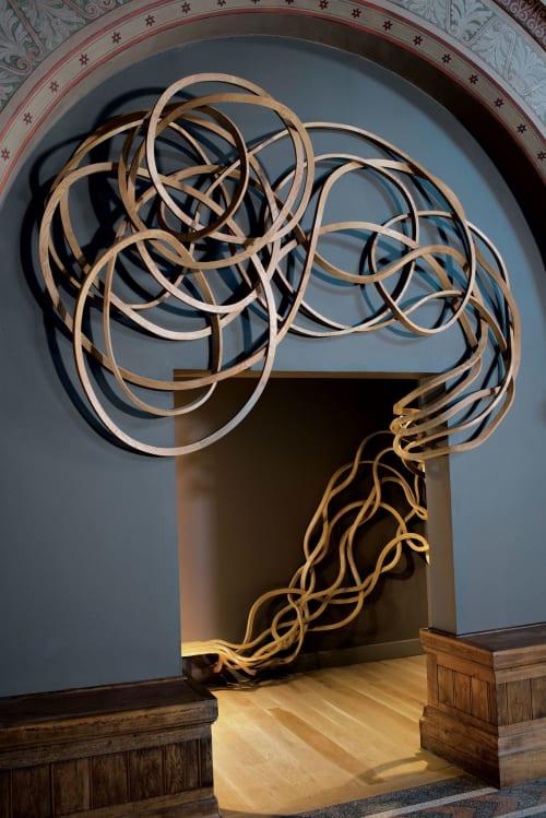 Sculptures by Pablo Reinoso seen at Fourvière Hotel, Lyon - Fourvière Bench